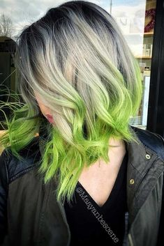 Best Hairstyles & Haircuts for Women in 2017 / 2018 : Weve collected 24 photos with blue ombre hair. Also you find here a green omb