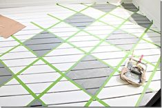Painted Deck Floors, Painted Kitchen Floors, Kitchen Flooring, Painted Rug, Porch Flooring, Wooden Flooring, Plywood Floors, Laminate Flooring, Flooring Ideas