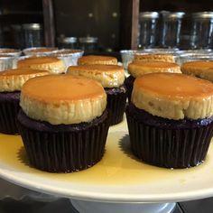 Ube Leche flan cupcakes! #Ube #ubecupcake #ubelecheflan