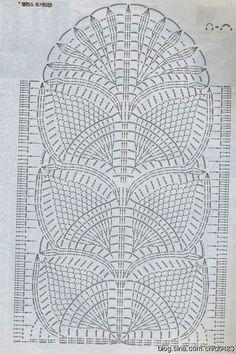 Crochet Scarf Crochet And Crochet Table Runner Pattern, Crochet Doily Diagram, Crochet Doily Patterns, Crochet Borders, Crochet Tablecloth, Crochet Chart, Thread Crochet, Filet Crochet, Crochet Scarves