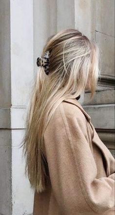 Clip Hairstyles, Pretty Hairstyles, Picture Day Hairstyles, Hair Inspo, Hair Inspiration, Blonde Hair Looks, Light Blonde Hair, Aesthetic Hair, Face Hair