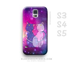 Check out our sailor moon case samsung selection for the very best in unique or custom, handmade pieces from our shops. Luna And Artemis, Sailor Moon Luna, Note 3 Case, S4 Case, Phone Cover, Kitty Cats, Samsung Cases, Couple, Handmade Gifts