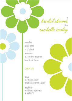 Personalized Green Blossoms Invitations