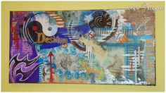 """""""BELIEVE"""" My #2 project on canvas - decoupage and acrylics"""