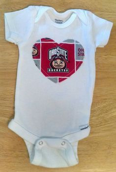 Ohio State Football Baby and Toddler Onesie or Shirt by AweBeeDesigns on Etsy