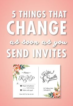 There's so much to do in the months leading up to the wedding, but once you send those invitations out, it starts to feel real. And when your invites hit the mail, you might be surprised at a few of the things that happen once your guests start opening up those envelopes.
