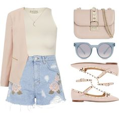 Rose by felytery on Polyvore featuring Free People, Topshop, Valentino, Quay, ootd, valentino, summer2015 and july2015