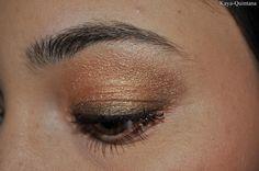 gouden smokey eyes