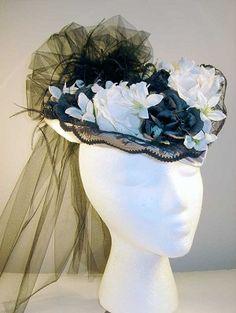 civil war ladies hats | Ladies Post-Civil War Promenade Hat - Click to Enlarge Image