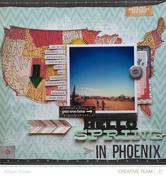 This wonderful layout by Allison Waken used the Thataway collection by Studio Calico.