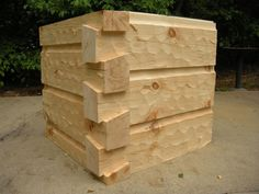 6x12 Curved base chink joint - German Chink - Hand Hewed - Dovetail Corners  See more at http://www.wholesaleloghomes.com