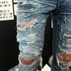 Torn Jeans, Destroyed Jeans, Denim, How To Wear, Pants, Fashion, Clothing, Ripped Denim Jeans, Trouser Pants