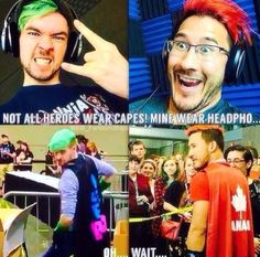 Not all heroes wear capes... Oh wait...