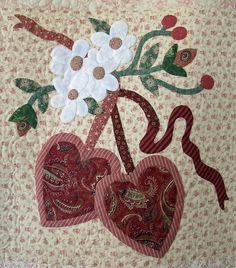 Vintage Valentine block made by Janet Beyea | Flickr - Photo Sharing!