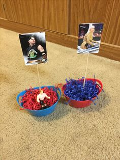 WWE Themed center pieces