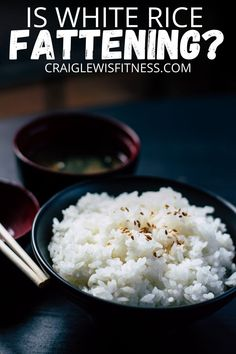 "Is white rice fattening? Honestly, there's no ""right"" or ""wrong"" answer when it comes to this question.In fact it's bit of a grey area for this question and any other question that asks will a specific food make you fat. Even if you want to know how to lose a muffin top.It's all about context. Healthy White Rice, White Rice Recipes, Arroz Frito, Coconut Rice, Frugal Meals, Sweet And Salty, Brown Rice, Main Meals, Food Photo"