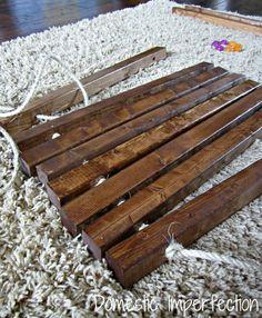 Making a wooden mat