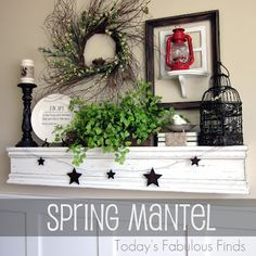 Love this...love decorating my mantel for every season and holiday.