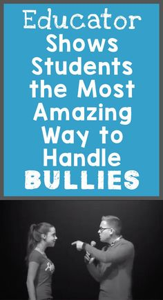 Educator Shows Students the Most Amazing Way to Handle Bullies feature image - Classroom mgmt. - New education Anti Bullying Activities, Bullying Lessons, Social Emotional Learning, Social Skills, Social Work, Anti Bullying Campaign, Wooly Bully, Importance Of Time Management, Character Education