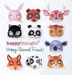 Printable animal masks. Download easy to make mask templates now!