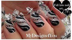 Uñas negro y plata