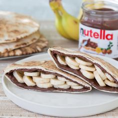 Take your pita sandwich from savory with hummus to sweet with Nutella and bananas.
