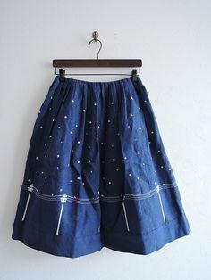 ミナペルホネン mina perhonen Yozora リネン刺繍スカート