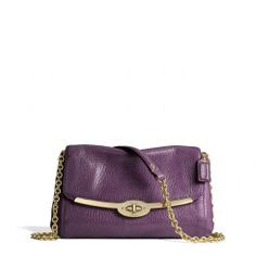 The Madison Chain Crossbody In Leather from Coach