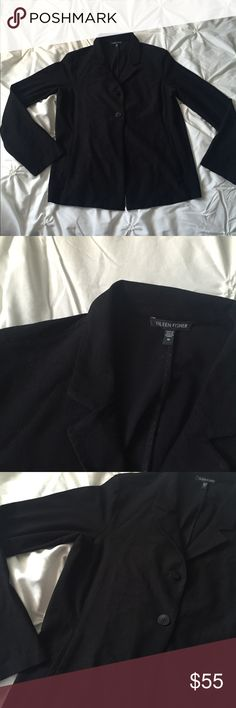 Eileen Fisher Black Light Weight Blazer Eileen Fisher Black Light Weight Blazer, size medium, double button - fabric has some stretch to it (not typical blazer material), front pockets ---- 🚭 All items are from a non-smoking home. 👆🏻Item is as described, feel free to ask questions. 📦 I am a fast shipper with excellent ratings. 👗I love bundles & bundle discounts. Feel free to make an offer! 😍 Like this item? Check out the rest of my closet! 💖 Thanks for looking! Eileen Fisher Jackets…