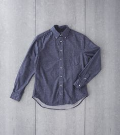c70f4968ead5 Gitman Vintage Japanese Chambray Flannel Navy Division Road Shirt Vintage  Japanese