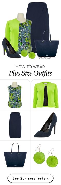 """""""Lime/Navy #Plussize"""" by penny-martin on Polyvore featuring Windsmoor, Charles David and Rebecca Minkoff"""