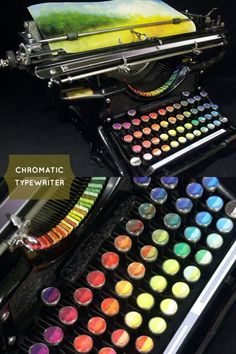 So cool! Pads of color instead of letter keys. By Tyree Callahan, via Making it Lovely