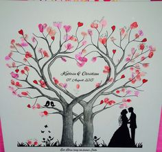 Heart Wedding Tree Wedding Tree Guest Book Fingerprint Gift Canvas in . - Nicole Prophet - PickPin - Heart Wedding Tree Wedding Tree Guest Book Fingerprint Gift Canvas in … – Nicole Prophet – Pi - Wedding Tree Guest Book, Guest Book Tree, Guest Books, Wedding Book, Gold Wedding Invitations, Rustic Invitations, Thumbprint Tree Wedding, Wedding Fingerprint Tree, Fingerprint Heart