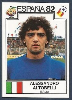 PANINI WORLD CUP STORY #143-ESPANA 82-ITALIA-ITALY-ALESSANDRO ALTOBELLI