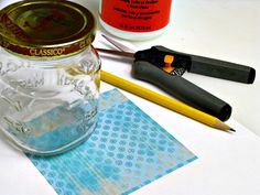 How to Make Pretty Lids for Old Jars: Supplied Needed