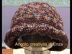 Tutorial: cappello cloche - YouTube Knit Crochet, Crochet Hats, Cowl Scarf, Shawl, Knitted Hats, Beanie, Knitting, Handmade, Hobby
