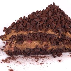 Chocolate cake recipe with delicious chocolate mousse layered between.