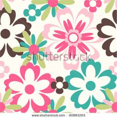 seamless flower pattern background by SalomeNJ, via Shutterstock