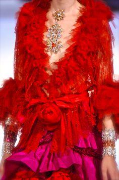 christian lacroix red lace confection