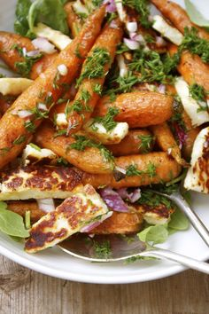 Recipe: Cumin Roasted Carrots with Haloumi & Fresh Dill | In Pursuit of More