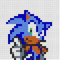 Sonic Perler Bead Pattern | Bead Sprites | Characters Fuse Bead Patterns