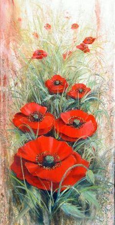 Art Floral, Watercolor Flowers, Watercolor Paintings, Sunflower Art, Flower Canvas, Diy Canvas Art, Big Flowers, Red Poppies, Animal Paintings