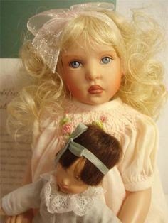 "Helen Kish 10"" Penelope and 5"" Baby 2002 LE 153/300 Dolls are NIB + Certificate #HelenKish #Dolls"