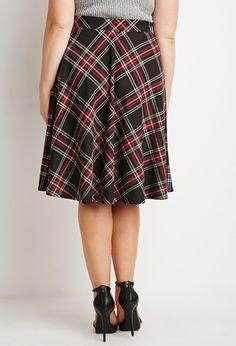Plaid A-Line Skirt | Forever 21 PLUS - 2000156515