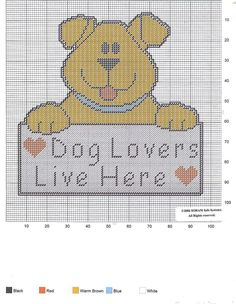 DOG LOVERS LIVE HERE by SORAM INFO SYSTEMS -- WALL HANGING