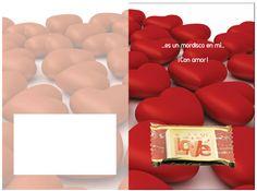 Tarjetas atractivas de diferentes temas, pero con el chocolate incorporada! Ya ofrece uno a su amor. Bonbon, Candy, Messages, Amor, Cards
