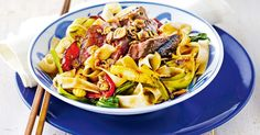Create a tasty Asian dish with this grilled beef and black bean noodle recipe.