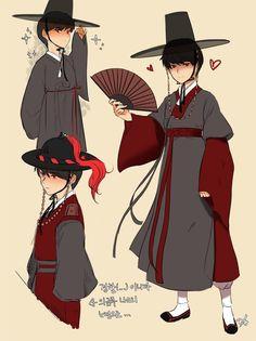Hanbok illustration | 한복 Hanbok : Korean traditional clothes[dress] Korean Hanbok, Korean Dress, Korean Outfits, Korean Traditional Dress, Traditional Art, Traditional Outfits, Korean Design, Korean Art, Drawing Clothes