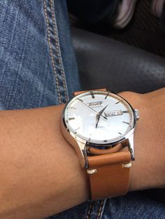 Tissot Visodate on Tan Leather Strap