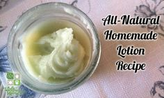 Homemade lotion can save money and help you avoid toxic chemicals. Use this no-liquid recipe with almond oil, coconut oil, beeswax, shea butter and oils.